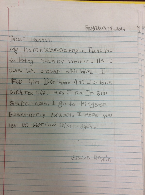 Letters from the 2nd grade flat stanley in kentucky altavistaventures Choice Image